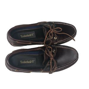 Timberland Amherst Leather Laced Loafer Boat Shoe